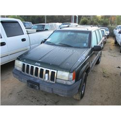 1996 JEEP CHEROKEE SUV, VIN/SN:1J4GZ5855TC169158 - GAS ENGINE, A/T, ODOMETER READING 152,117 MILES