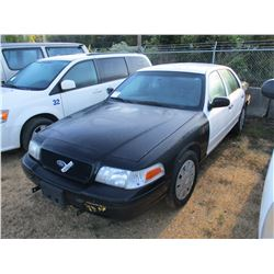 2007 FORD CROWN VICTORIA SEDAN, VIN/SN:2FAFP71WX7X147106 - GAS ENGINE, A/T, ODOMETER READING 165,203
