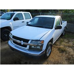 2007 CHEVROLET COLORADO PICK UP, VIN/SN:1GCCS19E278201034 - EXTENDED CAB, GAS ENGINE, A/T