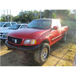 2002 FORD F150 PICK UP, VIN/SN:1FTRX18L52NB04240 - 4X4, EXTENDED CAB, GAS ENGINE, A/T
