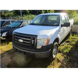 2009 FORD F150 XL PICK UP, VIN/SN:1FTRX14W49KA27727 - GAS ENGINE, A/T, ODOMETER READING 201,556 MILE