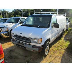 2001 FORD E350 VAN, VIN/SN:1FT5534L21AA71678 - GAS ENGINE, A/T, ODOMETER READING 257,111 MILES