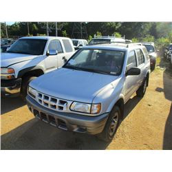 2001 ISUZU RODEO VIN/SN:4S2CK58D714335895 - GAS ENGINE, A/T, ODOMETER READING 171,105 MILES