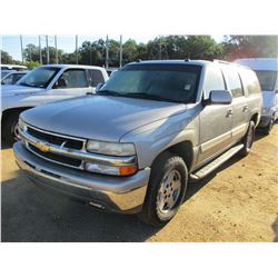 2005 CHEVROLET SUBURBAN, VIN/SN:1GNEC16Z65J117129 - GAS, A/T, 3RD ROW SEATING, ODOMETER READING 268,