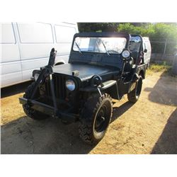 WILLYS JEEP VIN/SN:371170 - 4X4, GAS ENGINE, 3 SPEED TRANS, ROLL BAR