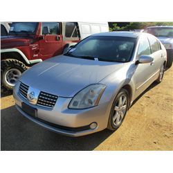 2006 NISSAN MAXIMA VIN/SN:1N4BA41E26C840706 - GAS ENGINE, A/T, ODOMETER READING 173,724 MILES