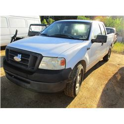 2008 FORD F150 PICK UP, VIN/SN:1FTPX12V18FB40902 - EXTENDED CAB, GAS ENGINE, A/T, ODOMETER READING 2