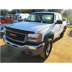 2007 GMC 2500HD PICK UP, VIN/SN:1GTHC29U87E159230 - EXTENDED CAB, GAS ENGINE, A/T, ODOMETER READING