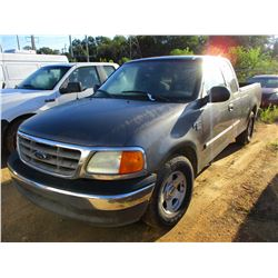 2004 FORD F150 PICK UP, VIN/SN:2FTRX17W94CA37355 - EXTENDED CAB, TRITON V8 GAS ENGINE, A/T