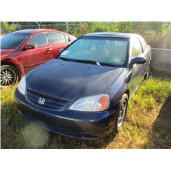 2003 HONDA CIVIC VIN/SN:1HGEM22923L063784 - GAS ENGINE, A/T, ODOMETER READING 247,948 MILES