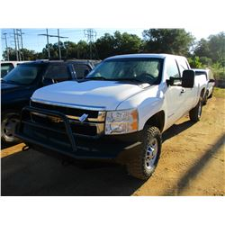 2012 CHEVROLET 2500HD PICK UP, VIN/SN:1GC1KVCG2CF200030 - 4X4, CREW CAB, A/T