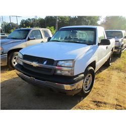 2004 CHEVROLET 1500 PICK UP, VIN/SN:1GCEK14V74Z326746 - GAS ENGINE, A/T, ODOMETER READING 148,820 MI