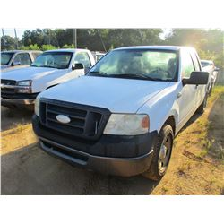 2008 FORD F150 PICK UP, VIN/SN:1FTPX12V97KD24765 - EXTENDED CAB, GAS ENGINE, A/T, ODOMETER READING 2