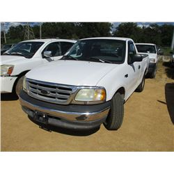 2003 FORD F150 PICKUP, VIN/SN:1FTRF17243NA70045 - GAS ENGINE, A/T, ODOMETER READING 121,131 MILES