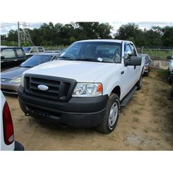 2008 FORD F150 XL PICKUP, VIN/SN:1FTRX14W48FB31139 - 4X4, EXT CAB, GAS ENGINE, A/T, ODOMETER READING