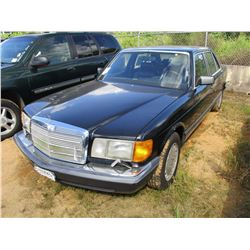 1989 MERCEDES 420SEL VIN/SN:WDBCA35D8KA434556 - GAS ENGINE, A/T, ODOMETER READING 205,000 MILES