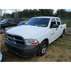 2011 RAM 1500 PICKUP, VIN/SN:1D7RB1CP4B5628835 - CREW CAB, GAS ENGINE, ODOMETER READING 101,787 MILE
