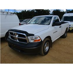 2011 RAM 1500 PICKUP, VIN/SN:3D7JB1EC1BG512112 - GAS ENGINE, A/T, ODOMETER READING 188,863 MILES
