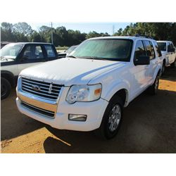 2009 FORD EXPLORER VIN/SN:1FMEU73E59UA19137 - GAS, A/T, ODOMETER READING 174,471 MILES