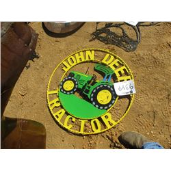 METAL JOHN DEERE TRACTOR SIGN (C6)