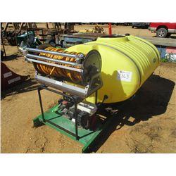 SCHABEN SPRAYER SYSTEM, - 400 GALLON, GAS ENGINE, HOSES W/HANNAY REEL SKID MOUNTED (C3)