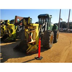 2012 JOHN DEERE 643K FELLER BUNCHER, VIN/SN:645426 JOHN DEERE SAW HEAD, CAB, W/AIR, 24.5-32 TIRES, M