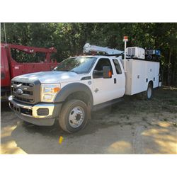 2014 FORD F550 SERVICE TRUCK VIN/SN:  1FDOX5GT6EEA87076 - EXTENDED CAB, 6.7L V8 POEWR STROKE DIESEL