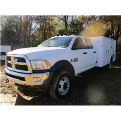 2016 DODGE RAM 5500HD MECHANICS TRUCK, VIN/SN:3C7WRNFL5GG238594 - 4X4, CREW CAB, CUMMINS TURBO DIESE