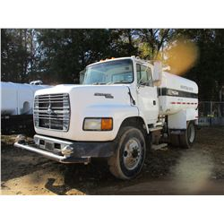 1994 FORD AEROMAX L-9000 WATER TRUCK, VIN/SN:1FTYS95W5RVA47460 - S/A, CAT DIESEL ENGINE, 7 SPEED TRA