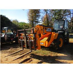 2014 JCB 535-140 FORKLIFT, VIN/SN:JCB5APXGC02177997 - 7,700LB CAPACITY, 4X4, FRONT STABILIZERS, CAB,