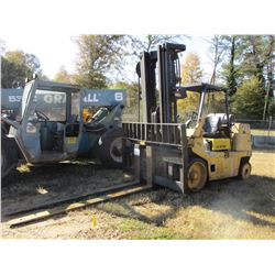 HYSTER S155XL FORKLIFT, VIN/SN:B024D07016Y - LP GAS, 3 STAGE MAST, 9,000LB CAPACITY, 8' FORKS, METER