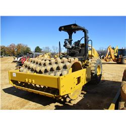 "2015 CAT CS56B ROLLER, VIN/SN:LHC00658 - VIBRATORY, 84"" PADFOOT DRUM, CANOPY, METER READING 2,300 HO"