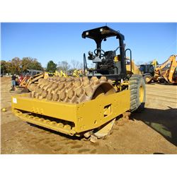 "2014 CAT CP56B ROLLER, VIN/SN:LHC00591 - VIBRATORY, 84"" PADFOOT DRUM, CANOPY, METER READING 2,626 HO"