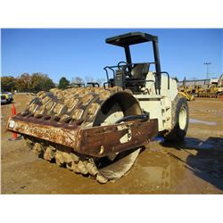 "INGERSOLL RAND SD100D PRO PAC ROLLER, VIN/SN:148058 - VIBRATORY, 84"" PADFOOT DRUM, METER READING 10,"