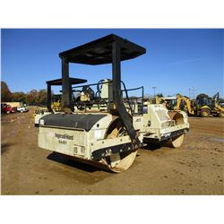 "INGERSOLL-RAND DD110 ROLLER, VIN/SN:167481 - TANDEM, VIBRATORY, 80"" SMOOTH DRUMS, CANOPY, METER READ"