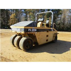 CAT PS-360B ROLLER, VIN/SN:9LS00207 - PNEUMATIC, ROLL BAR, WATER SYSTEM, METER READING 3,265 HOURS