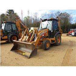 2012 CASE 580 SUPER N LOADER BACKHOE, VIN/SN:LCC564542 - 4X4, BUCKET, CAB, A/C, METER READING 2,720