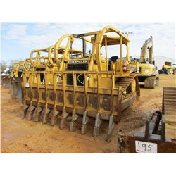 CAT D6H CRAWLER TRACTOR, VIN/SN:4RC01845 - PEMBERTON STACKING RACK, LEVER STEER, CANOPY, SWEEPS