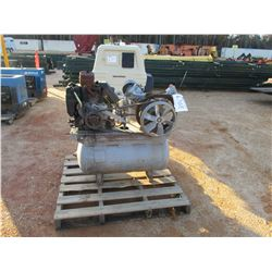 INGEROLL-RAND T-50 TANK MOUNTED AIR COMPRESSOR, - GAS ENGINE (B-3)
