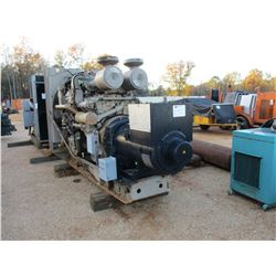 CUMMINS GENERATOR SET, 380KE, 3 PHASE, 480 VOLTS, CUMMINS UT-12-700-GS MOTOR, SKID MTD (B-3)
