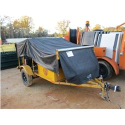 DOWNING HOT TAR SYSTEM, LP GAS MOTOR, DAYTON SW963 GENERATOR, MTD ON S/A TRAILER (B-3)