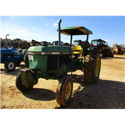 JOHN DEERE 2555 FARM TRACTOR, VIN/SN:556395 - (1) HYD REMOTE, CANOPY, METER READING 2,989 HOURS