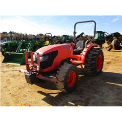 KUBOTA MX5100D FARM TRACTOR, VIN/SN:56501 - MFWD, 1 REMOTE, ROLL BAR, METER READING 747 HOURS