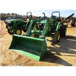 JOHN DEERE 5045E FARM TRACTOR, VIN/SN:114591 - 2 REMOTES, JOHN DEERE H240 FRONT ATTACHMENT, BUCKET,