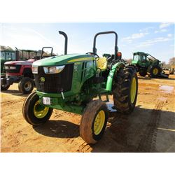 2012 JOHN DEERE 5055E FARM TRACTOR, VIN/SN:112190 - (1) REMOTE, ROLL BAR, METER READING 862 HOURS