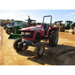 MAHINDRA 6000 FARM TRACTOR, VIN/SN:RP2043 - (1) REMOTE, ROLL BAR, METER READING 688 HOURS