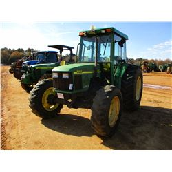 2000 JOHN DEERE 5410 FARM TRACTOR, VIN/SN:341969 - MFWD, (2) REMOTES, CAB, A/C, 18.4-30 REAR TIRES,