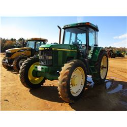 2000 JOHN DEERE 7410 FARM TRACTOR, VIN/SN:037599 - MFWD, (2) REMOTES, CAB, A/C, 14.9R46 REAR TIRES,