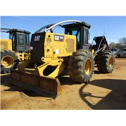 2015 CAT 525D SKIDDER, VIN/SN:GKP00187 - DUAL ARCH, WINCH, CAB, A/C, METER READING 7,926 HOURS (NEW