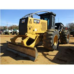 2015 CAT 525D SKIDDER, VIN/SN:GKP00166 - DUAL ARCH, WINCH, CAB, A/C, 30.5L-32 TIRES, METER READING 5